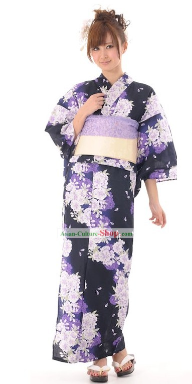 Japanese Kimono Suit Complete Set for Women