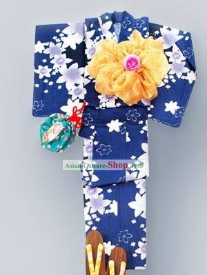 Traditional Japanese Kimono Costume Complete Set for Women