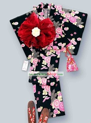 Japanese Classic Kimono Costumes Complete Set for Women