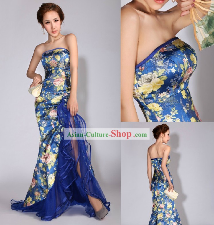 Chinese Mandarin Wedding Evening Dress for Women