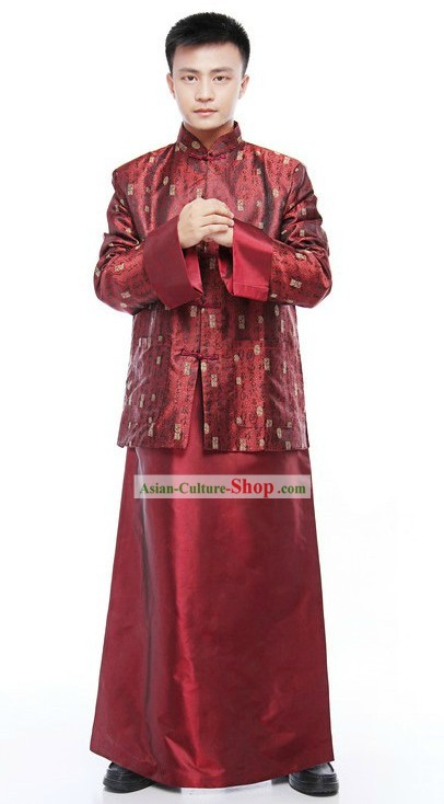 Traditional Chinese Wedding Dress and New Year Dress for Men