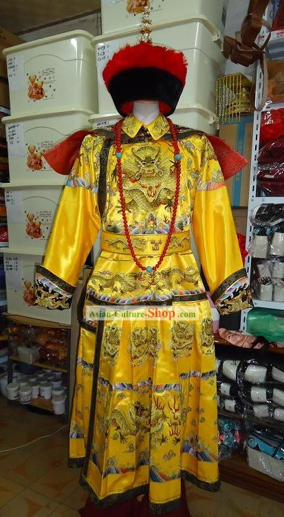 Ancient Chinese Emperor Dragon Costumes Complete Set