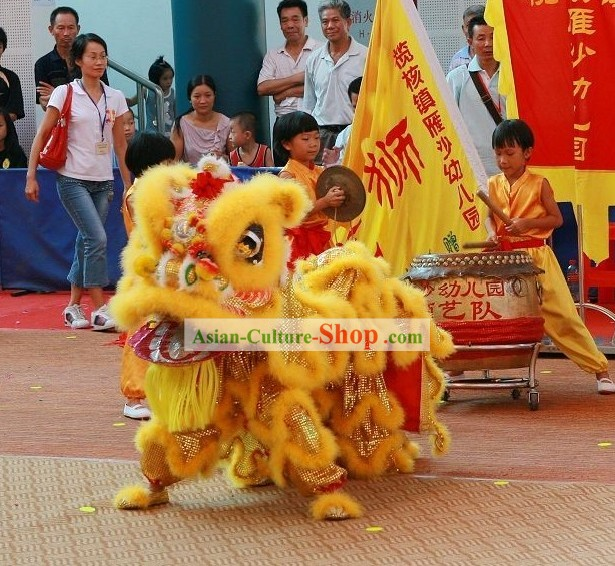 Traditional FUT SAN Lion Dance Costume Complete Set for Kids
