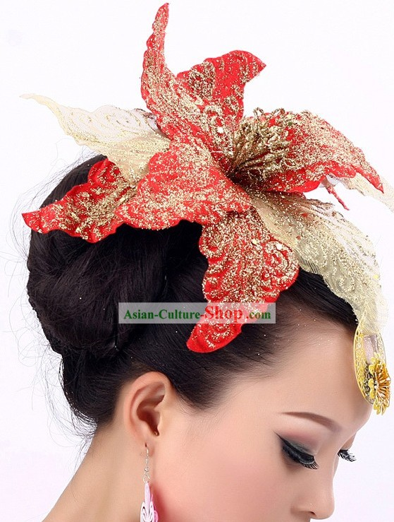 Chinese Folk Dance Costume Headpiece