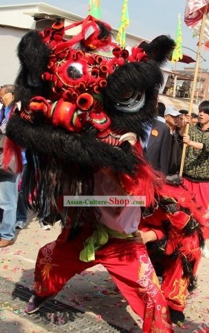 Supreme Long Wool Gwan Gong Lion Dance Costumes Complete Set