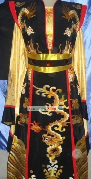 Chinese Opera Emperor Dragon Costumes Complete Set