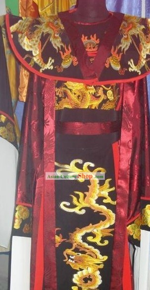 Chinese Opera Emperor Embroidered Dragon Costumes Complete Set