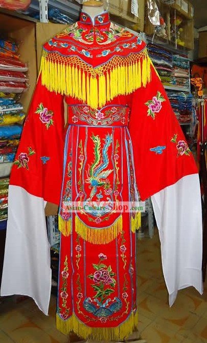 Chinese Beijing Opera Embroidered Phoenix Costume