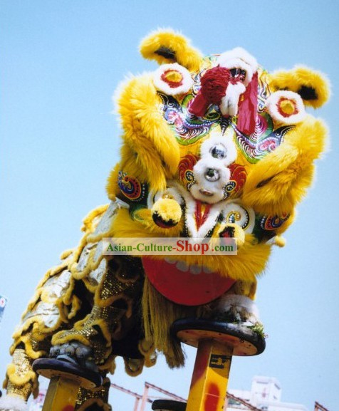 Old Style Fut San Lion Dance Costumes Complete Set