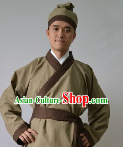 Ancient Chinese Restaurant Waiter Costumes and Hat