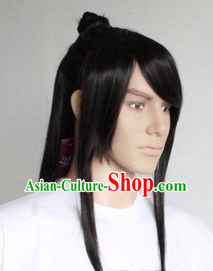 Ancient Chinese Handmade Long Wig for Men