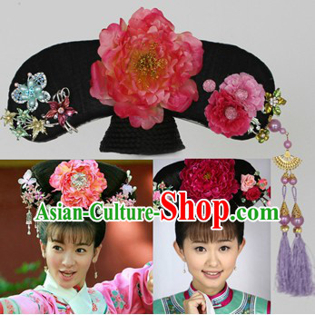 Qing Dynasty Princess Manchu Hat and Hair Accessories