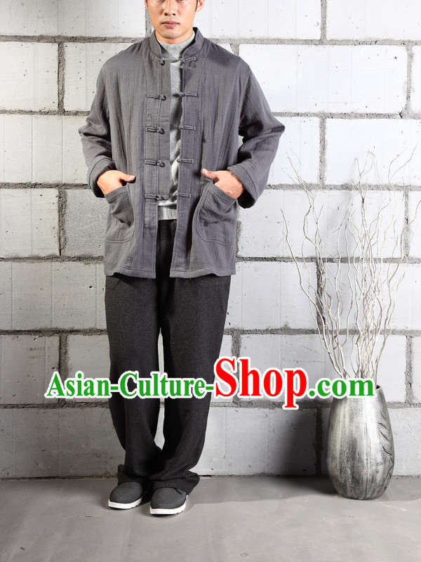 Chinese Classic Mandarin Martial Arts Clothes Complete Set for Men