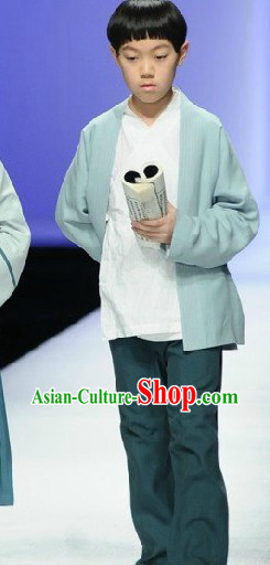 Chinese Classic Han Fu Clothing Complete Set for Boys