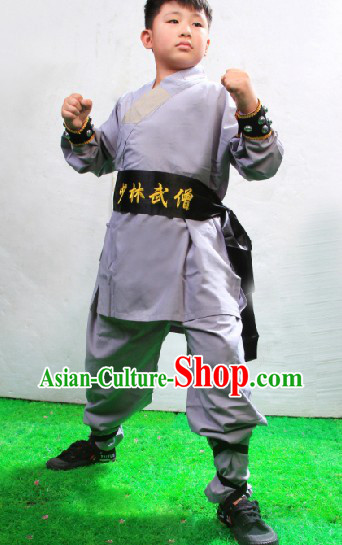Traditional Chinese Shaolin Monk Suit for Kids