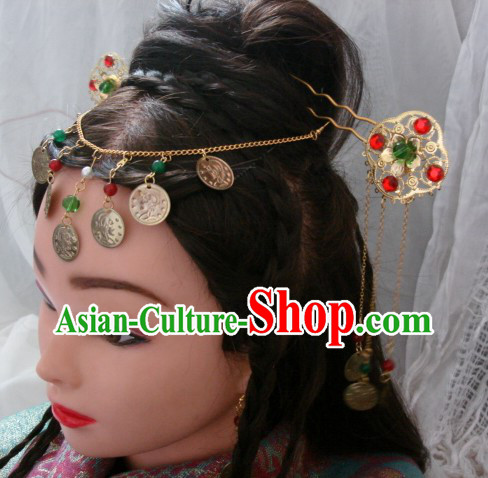 Handmade Ancient Chinese Style Princess Hair Accessories Three Pieces Set