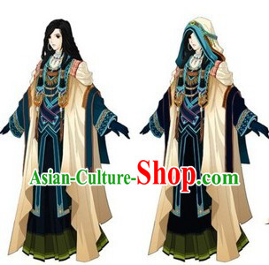 Ancient Chinese Original Tribe Costume and Accessories for Women