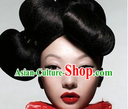 Chinese Classical Black Wig Set for Women