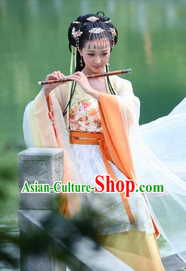Chinese Classical Flute Musician Costumes for Women