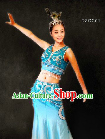 Traditional Dai Minority Dance Costume for Women