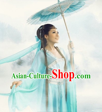 Romantic Light Blue Lady Costumes