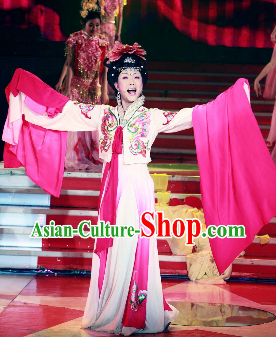Chinese Stage Performance Empress Long Sleeve Costumes