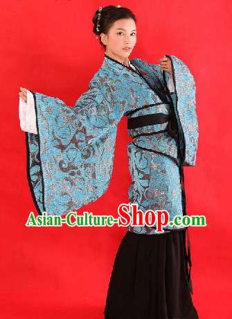 Ancient Chinese Female Civilian Hanfu Clothing Complete Set