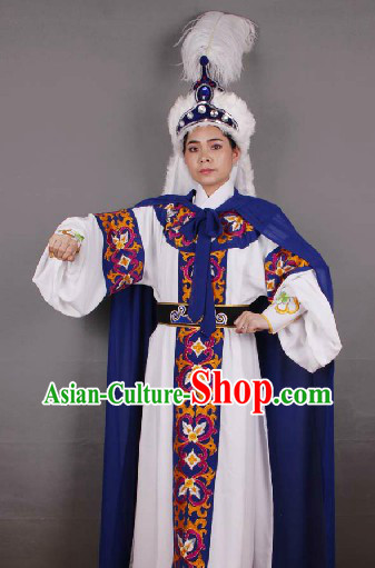 Chinese Desert Prince Costume and Hat for Men