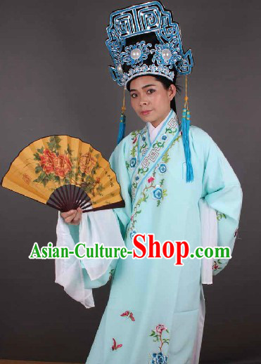 Ancient Chinese Young Men Costume and Hat