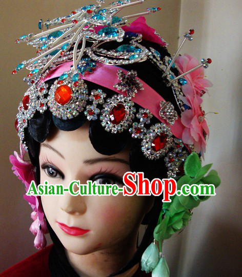 Chinese Classical Dramatic Huadan Wig and Headpieces