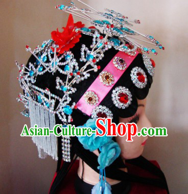 Chinese Classical Peking Opera Wig and Hair Accessories