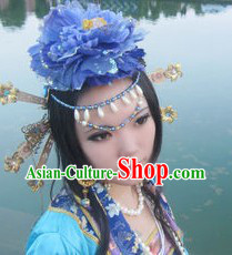 Chinese Classical Blue Hair Accessories Set
