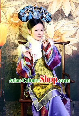 Qing Dynasty Empress Clothes Complete Set for Women