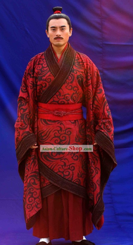 Ancient Chinese Han Dynasty Emperor Wedding Clothing