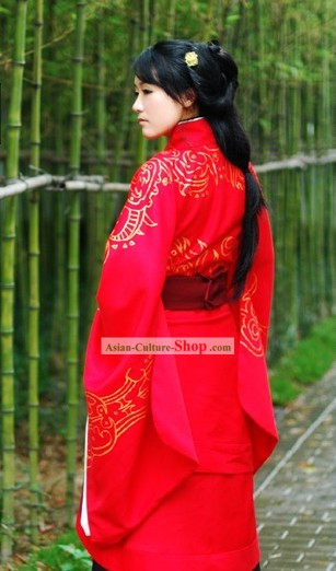 Ancient Chinese Han Dynasty Princess Wedding Clothing