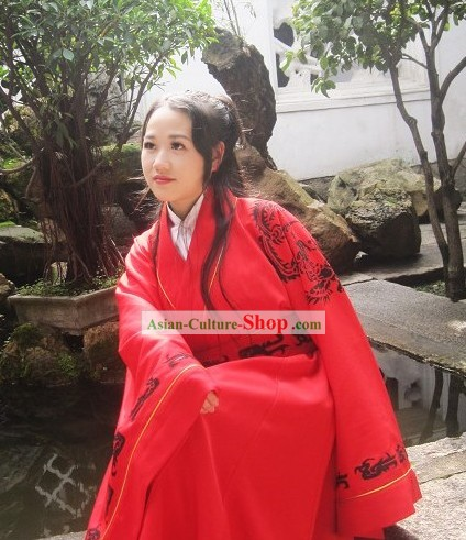 Chinese Classical Phoenix Red Wedding Costumes