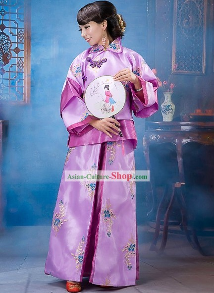 Traditional Chinese Tuan Fan Dance Costumes for Women