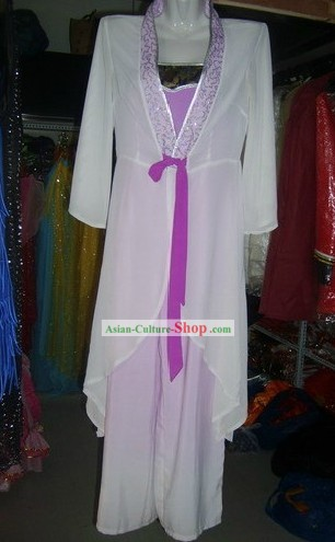 Color Transition Classical Fan Dance Costume for Women