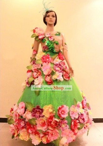 Happy Event Celebrations Flower Dance Costumes for Women
