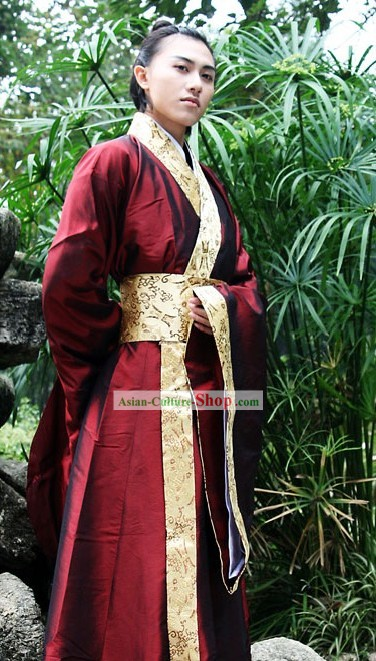 Ancient Hanfu Guzhuang Clothing for Men