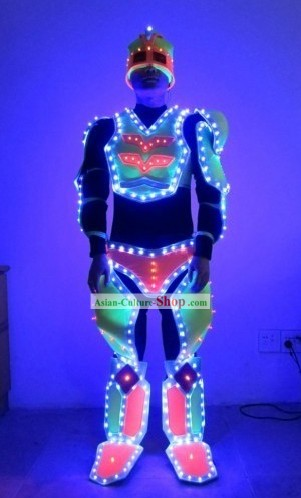 Custom Made Electric LED Lights Luminous Dancing Costumes