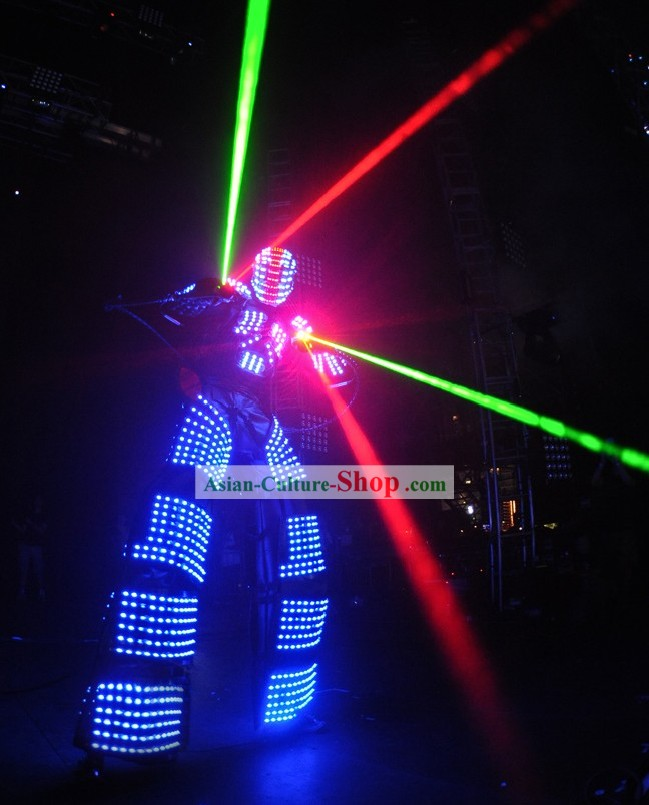 Custom Made Electric LED Lights Illuminate Dancing Costumes