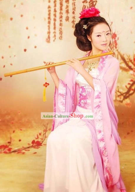 Traditional Chinese Tea Art Master Costume Complete Set