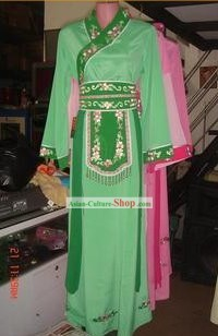 Chinese Green Classical Dancing Costume for Women