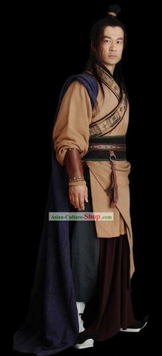 Ancient Chinese Xiang Yu Hero Costumes Complete Set for Men