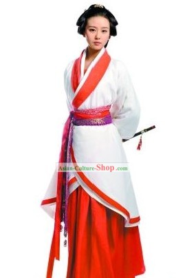 Ancient Chinese Swordswoman Hanfu Costume