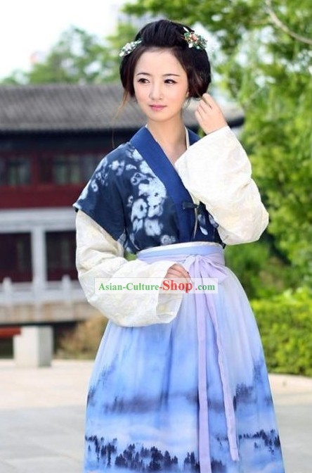 Ancient Chinese Ban Bi Ru Qun Han Clothes Complete Set for Women