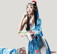 Tibetan Dancing Costume and Hair Accessories for Women