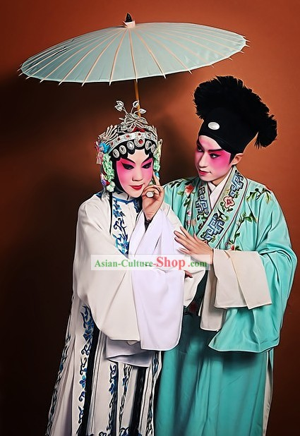 Ancient Chinese Opera Costumes Two Complete Sets for Men and Women
