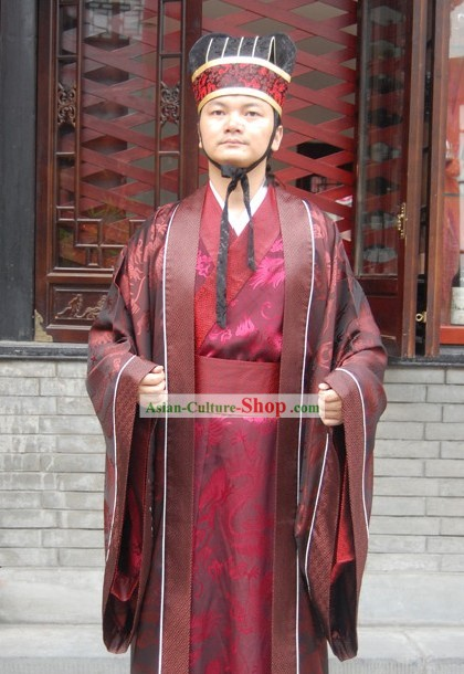 Ancient Chinese Clothing and Hat for Men